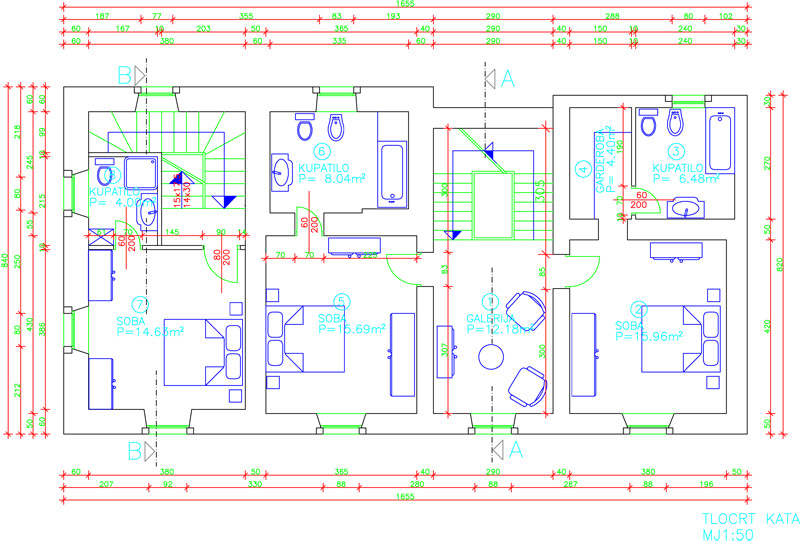 First floor ground plan